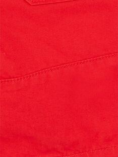 Rote Bermudashorts aus Baumwolldobby ZAFLAGE / 21E3PGI1BER502