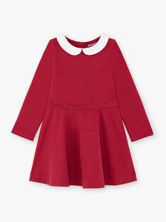 Burgunderfarbenes Kleid für Mädchen BROCOLETTE2 / 21H2PFB5ROB719