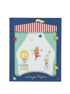 """Blaues Poster """"Zirkus"""" ROCIRQAFF / 19EZLAX1AFF713"""