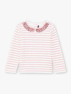 Blassrosa Langarm-T-Shirt für Mädchen BROMARETTE3 / 21H2PFB5TML001