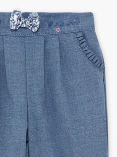 Blaue Flanellhose für Baby Mädchen BAKILANE / 21H1BFL1PAN222