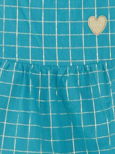 Blaues Strandkleid mit goldenen Streifen Kind Mädchen ZROBETTE 1 / 21E2PFW6RBSG603