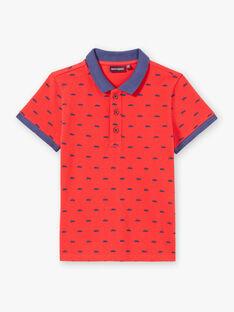 Red POLO SHIRT ZYPOLAGE2 / 21E3PGW6POL050