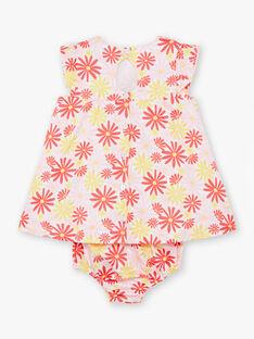 Baby Mädchen rosa und gelben Kleid und Bloomer TYGALA / 20E1BFZ3ROB001