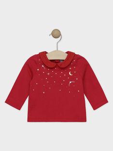 Rotes Baby-Jäckchen mit Peter-Pan-Kragen für kleine Mädchen SAZOFIA / 19H1BFP1BRAF510