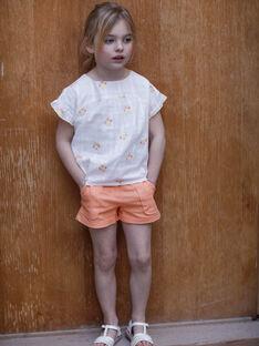 Orange Shorts Kind Mädchen ZIJOETTE / 21E2PFO1SHO406