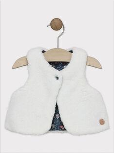 Ärmellose Strickjacke aus Pelzimitat Baby Mädchen SALOLA / 19H1BFC1CSM001