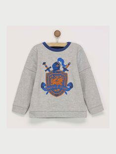 Grau meliertes Sweatshirt RACHAGE / 19E3PG42SWE943