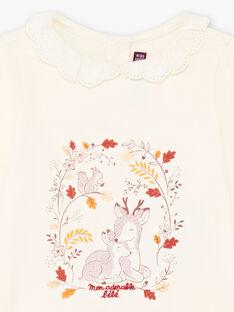 Baby Mädchen Spitze Kragen T-shirt BAILIA / 21H1BFJ1BRA001