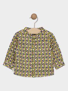 Twill-Hemd für Jungen mit ethnischem Aufdruck SAKARL / 19H1BG61CHM605