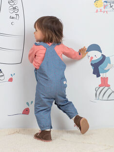 Baby Mädchen Denim Latzhose mit Katzentasche BAKAREN / 21H1BFL1SALP269