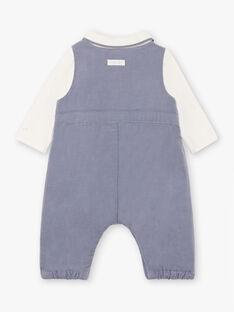 Blauer Cord-Body und Latzhose für Baby-Jungen BONHEUR / 21H0CG43ENS216
