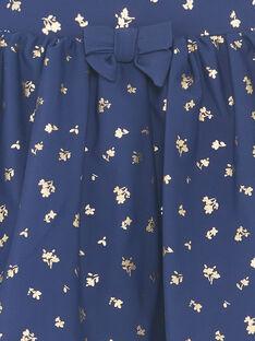 Marineblaue Badeshorts mit goldenen Mustern für Mädchen ZAILUETTE / 21E4PFR1SDB216