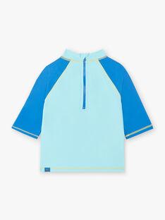 T-shirt Anti-UV blau türkis Kind Junge ZYSURFAGE / 21E4PGR1TUV202