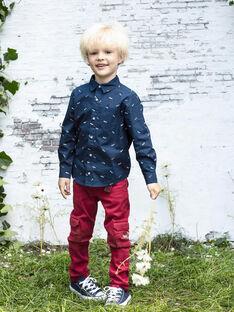 Baby Boy's rote Multi-Pocket-Hose mit Gürtel BADAGE / 21H3PG11PAN050