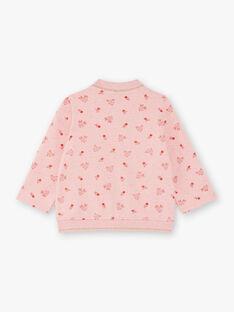 Baby Girl's Pink Teddy mit Reh und Blumen Print BAISA / 21H1BFJ1JGHD314