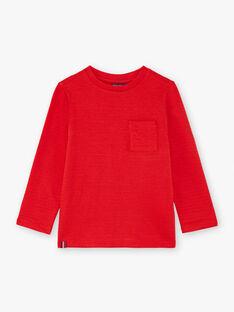 T-Shirt für Jungen, rot BUTILAGE2 / 21H3PGB4TML050