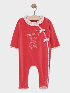 Rosa Baby-Strampler Mädchen SEBELLE / 19H5BFK1GRED320