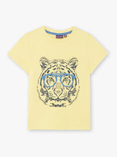 Gelbes T-Shirt mit Tigermuster ZUZAGE2 / 21E3PGL1TMCB117