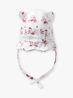 Baby Mädchen Popeline gedruckt Hut ZOLISA / 21E0AFY1CHA000