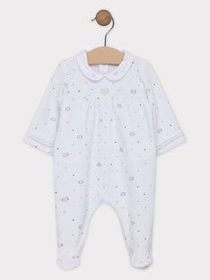 Schlafanzug aus Samt bedruckt mit Bubikragen Baby Mädchen SYAMELY / 19H0NF12GRE000