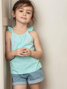Hellblaue Denim-Shorts Mädchen Kind ZLOUETTE1 / 21E2PFL1SHOP272