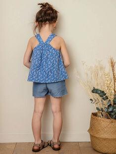 Lavendelblaues Top mit weißem Blumenmuster Kind Mädchen ZUBLIETTE / 21E2PFT1CHEC208