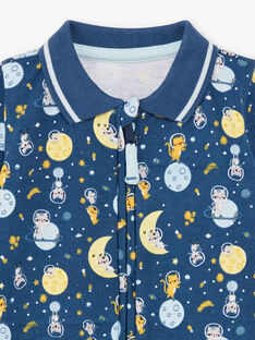 Nachtblauer Strampler für Baby-Jungen mit Fantasie-Motiven BEANTOINE / 21H5BG65GRE715