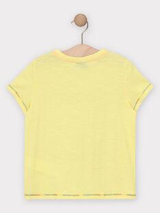 Kurzärmeliges T-Shirt für Jungen, gelb TEJIGAGE / 20E3PGG2TMCB113