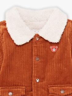Samtjacke für Babyjungen mit gesticktem Teddy BIOCTAVE / 21H1BGD1VES809