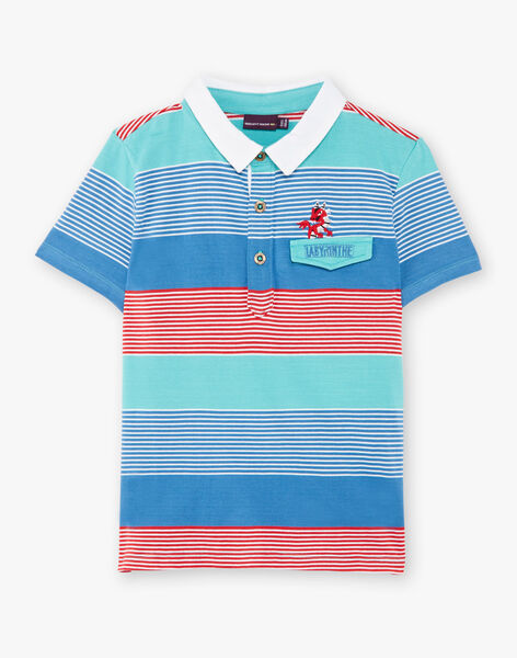 Mehrfarbig gestreiftes Poloshirt ZADOUAGE / 21E3PGJ1POLG621
