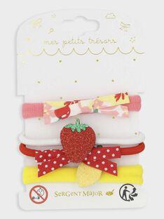 Set mit 4 Gummibändern mit Schleifen und Obst für kleine Mädchen TUVIOLETTE / 20E4PFK8ELA050