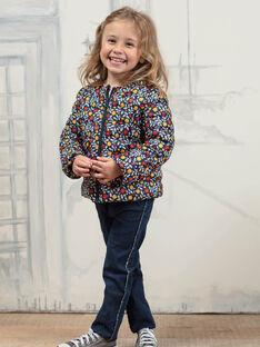 Marineblauer 3-in-1-Regenmantel für Mädchen BLOPRETTE / 21H2PFC2IMP070