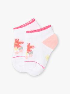 Baby Mädchen weiße Socken Jacquard Blume ZASUNDAY / 21E4BFU1SOB000