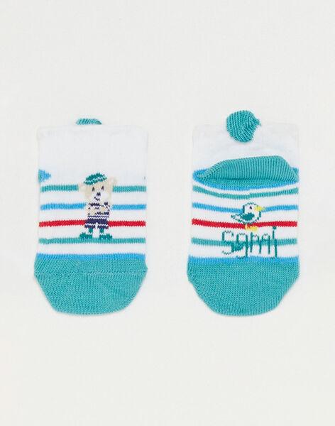 Kurze gestreifte Baby-Socken Jungen TAUMEA / 20E4BGW1SOB001