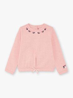 Rosa Sweatshirt für Mädchen BROSWETTE / 21H2PF31SWED314