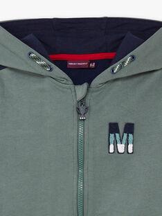 Kapuzenpullover für Jungen in Khaki und Marineblau BAPAGE2 / 21H3PG32JGH604