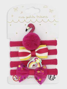 Set mit 4 Gummibändern für kleine Mädchen, rosa TOMIKETTE / 20E4PFK9ELA302