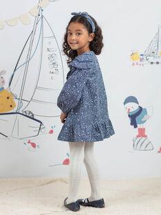 Langärmeliges Kleid für Mädchen mit ausgefallenem Druck BYROBETTE / 21H2PFL1ROB715