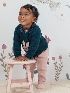 Baby Mädchen blass rosa Hose und Gürtel BAGARA / 21H1BF91PAND329