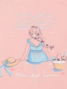 Rosa Tank-Top mit Phantasie Druck Kind Mädchen ZUTOLETTE / 21E2PFT1TMCD305