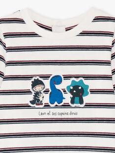 Baby Boy's Ecru & Marine Streifen Bodysuit BAJULIO / 21H1BG91BOD001