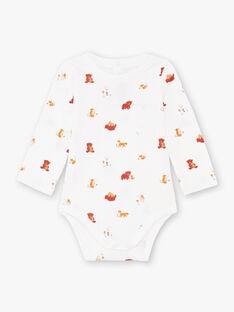 Ecru Bodysuit mit ausgefallenem Druck Baby Junge BALUCAS / 21H1BGJ1BOD001