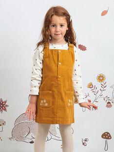Kind Mädchen Kamel bestickte Kleid-salopette BUCHETTE / 21H2PFJ1CHS804