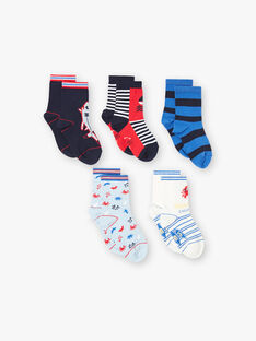 Blue PACK OF 5 PAIRS OF SOCKS ZALOTAGE / 21E4PGK1LC5C218