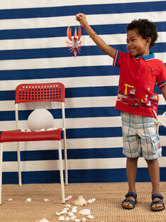 Rotes Polohemd für Jungen TUBOLAGE / 20E3PGW1POL050