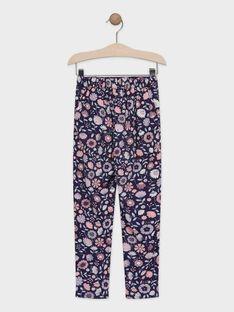 Hose mit Blumendruck für Mädchen TAEFIETTE 1 / 20E2PFM3PAN711