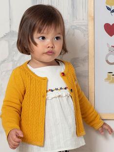 Baby Mädchen Senf Gelb Weste BAELOISE / 21H1BF52CAR109