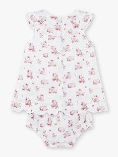 Bedrucktes Popeline-Kleid, Blümchen und Baby-Mädchen-Stirnband ZOLISE / 21E0CFY2ENS000
