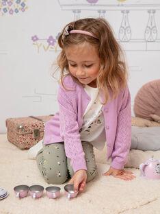 Baby Mädchen lange Ärmel Strickjacke mit durchbrochenem Design BECARDETTE / 21H2PF21CAR329